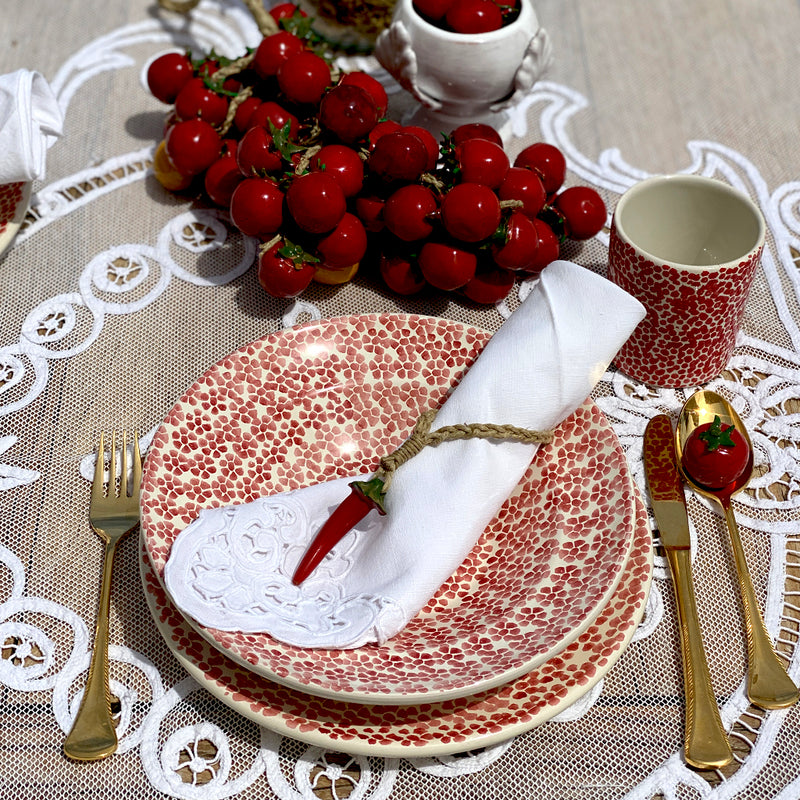 Table Set Red