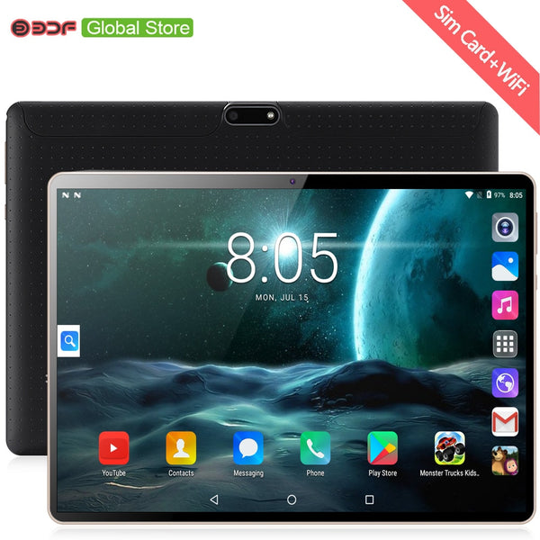 New Original 10 inch Tablet Pc Octa Core 3G Phone Call 10.1 Tablets 4G+64G Android 7.0 tab Google Market GPS WiFi FM Bluetooth
