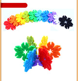 Kids Plastic Snowflake Building Blocks