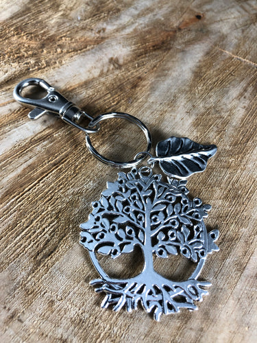 Tree and Leaf Keychain