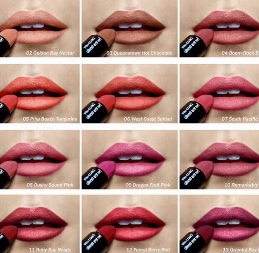 Antipodes Lipstick in 12 Colours