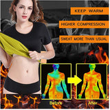 Hot Thermo Body Shaper Neoprene Sweat Sauna T-Shirt Slimming Suit