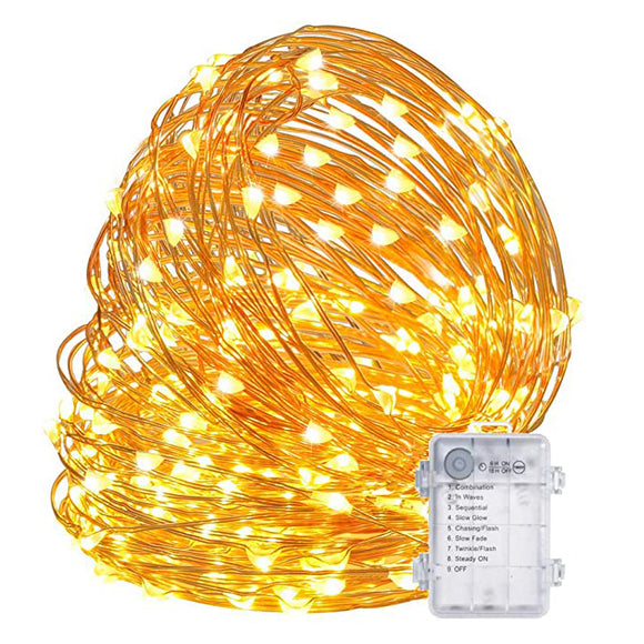 Starry Fairy Copper Wire String Lights Christmas Decor Battery Operated