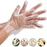 200pcs Disposable Food Safe Clear Plastic Gloves