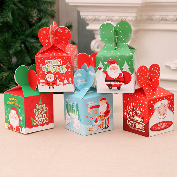 10pcs Christmas Xmas Gift Bags Candy Paper Boxes