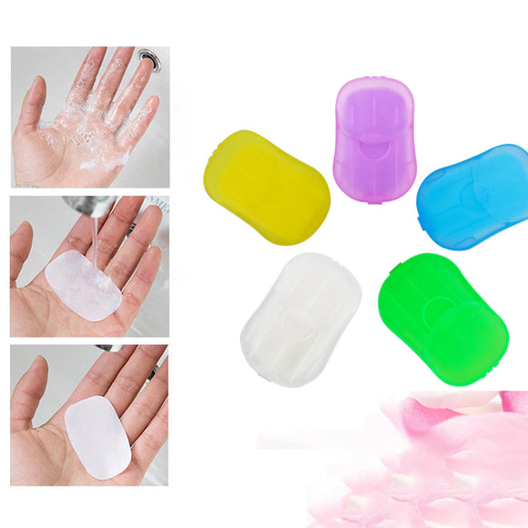 5/10 Packs Portable Disposable Paper Soap Sheets - Assorted Color