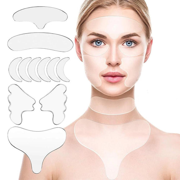 11Pcs Reusable Silicone Wrinkle Removal Sticker