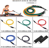 11Pcs/Set Fitness Training Resistance Stretch Exercise Bands