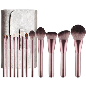 12pcs Premium Synthetic Hair Makeup Brushes Set with Case Bag