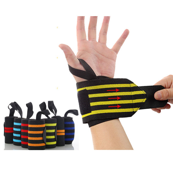 1 Pair of 18-inch Wrist Wraps Support Band with Thumb Loops