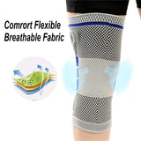 1 Pair of Compression Knee Support Brace with Side Stabilizers & Patella Gel Pads