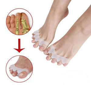 4pcs Silicone Gel Bunion Splint Big Toe Separator Corrector - Five Toe Ring