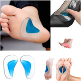 2 Pairs Orthopedic Gel Arch Support Insoles, Flat Feet Correction Silicone Pads