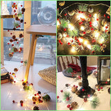 20 LED Christmas String Lights Pinecone Red Berry Bell Xmas Fairy Light