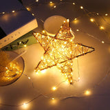 20-LED Starry Fairy Copper Wire String Lights Christmas Decor Battery Operated