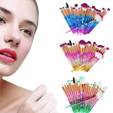 20Pcs Diamond Eyeshadow Eyeliner Blending Makeup Brushes Set