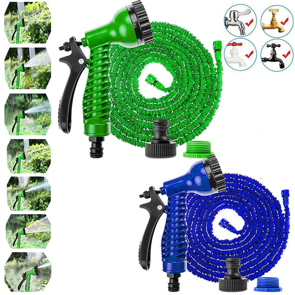 Retractable Expandable Magic Garden Hose Pipe & Spray Gun