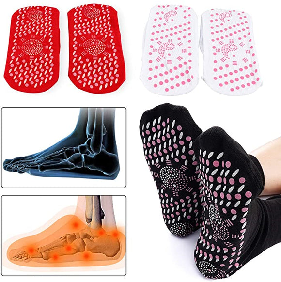 2 Pairs Tourmaline Magnetic Self-Heating Health Care Socks