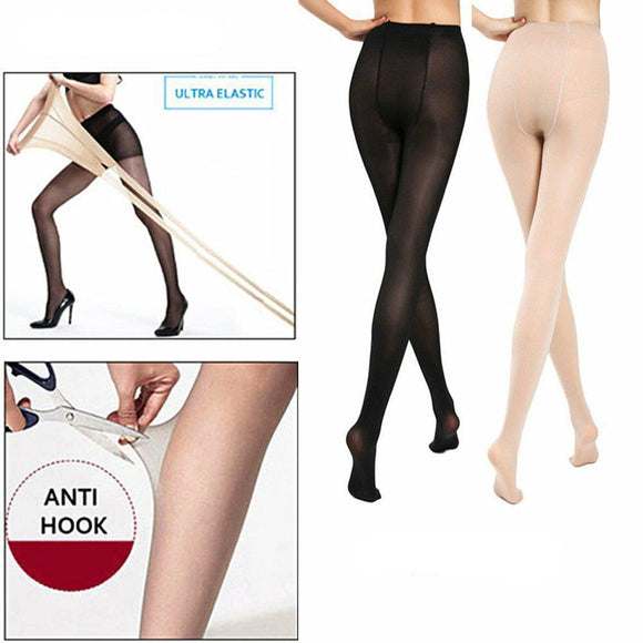 2 Pairs Women's 20D Ultra Sheer Silky Smooth Pantyhose Seamless Tights Stockings