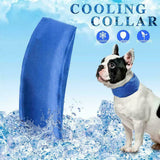 2Pcs Pet Dog Cooling Collar Adjustable Waterproof Hot Weather Protects Collar