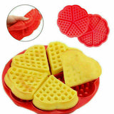 2Pcs Silicone Bakeware Flower Heart Shape Muffin Waffle Cake Mold