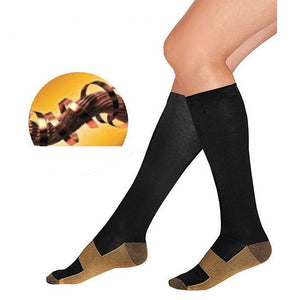 2 Pairs Compression Socks Anti-Fatigue Knee-High Socks
