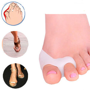 4pcs Orthopedic Silicone Big Toe Separator Bunion Corrector - Double Ring