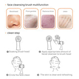 2 in 1 Face Cleansing Exfoliating Brush
