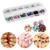 Crystal Nail Art Round Rhinestones for Nail Jewels Crafts DIY