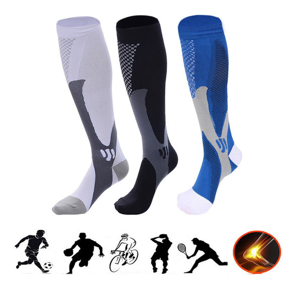 3 Pairs Unisex Nylon Sports Compression Socks Stockings