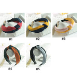 3pcs Cross Knot Wide Hair Hoop Bands with Cloth Wrapped for Women