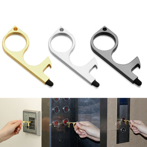 3pcs Touch-Free Door Opener Multi Purpose Keychain with Bottle Opener