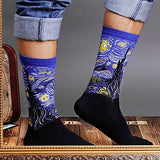 4 Pairs Unisex Famous Painting Masterpiece Artwork Crew Socks