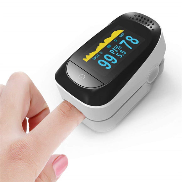 4 in 1 Fingertip Pulse Oximeter with PR Sleep Monitoring and PI