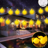 50 LED Globe Ball Fairy String Lights Solar Powered Waterproof Decor