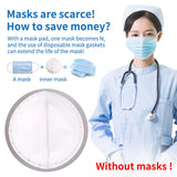50pcs Disposable Isolation Breathable 3-Layered Mask Inner Pad