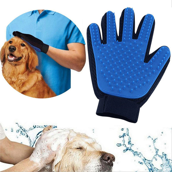 Pet Grooming Cleaning Glove Hair Remover Massage Brush