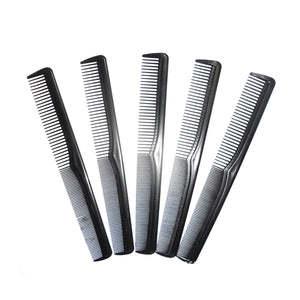 5 Packs Black Fine and Wide Tooth Anti-static Styling Comb