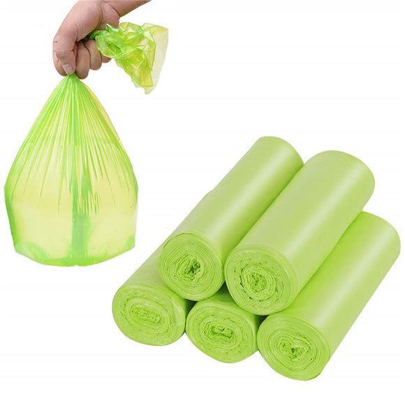 5 Rolls Biodegradable Trash Bags Recycling and Compostable Bags