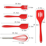 5pcs Kitchen Utensils Silicone Cooking tools Baking Cookware Set