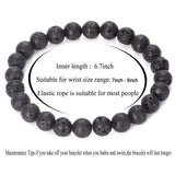 6 packs 8mm Natural Healing Stone Stretch Beads Bracelet