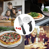 2Pcs Stainless Steel Pizza Cutter Wheel with Ergonomic Non Slip Handle