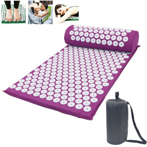 Acupressure Yoga Shakti Mat Massage Pads with Pillow Cushion Set