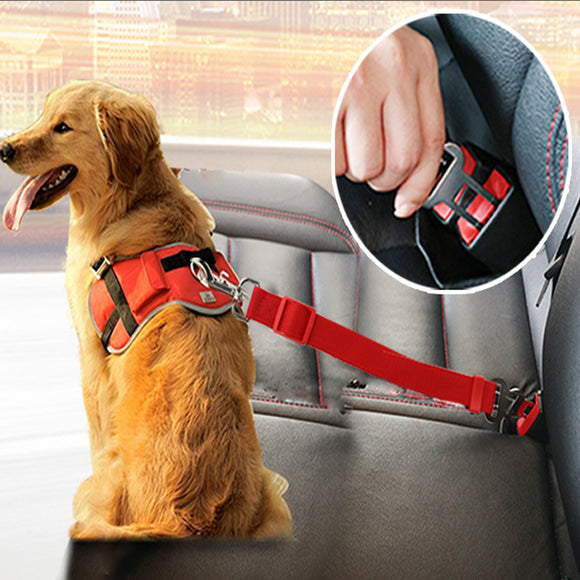 2pcs Adjustable Pet Dog Cat Car Seat Belt Security Leash