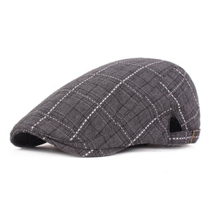 Adjustable Traditions Women Men Classic Tweed Grid Flat Cap Hat