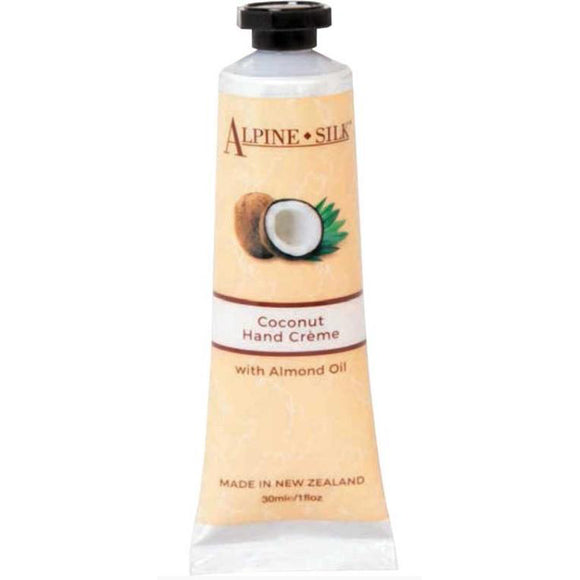 Alpine Silk Coconut Hand Creme 30ml - with Almond Oil
