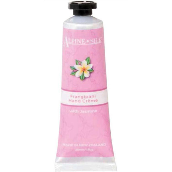 Alpine Silk Frangipani Hand Creme 30ml - with Jasmine