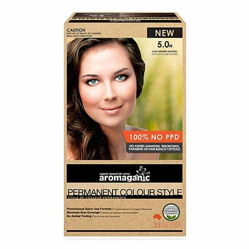 Aromaganic Permanent Hair Colour 5.0N Light Brown