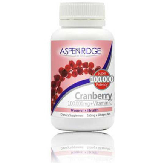 Aspen Ridge Cranberry 100000mg + Vitamin C 60 capsules