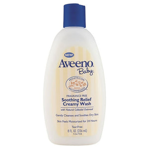 Aveeno Baby Soothing Relief Fragrance Free Creamy Wash 236mL